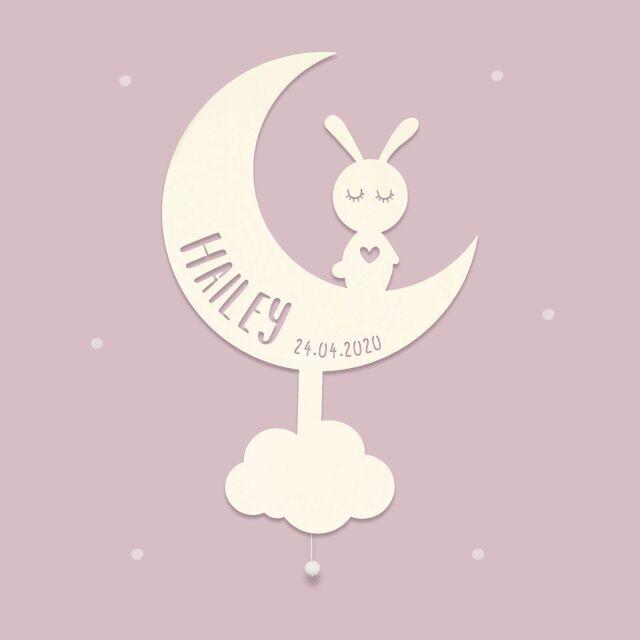 """Nachtlicht """"Mona der Mond"""" personalisiert..."""