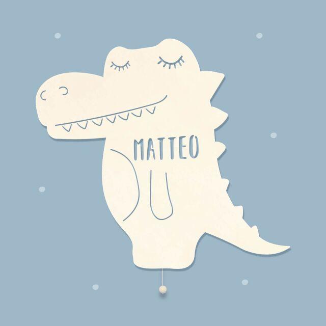 """Nachtlicht """"Karl das Krokodil"""" personalisiert für Baby und Kind"""
